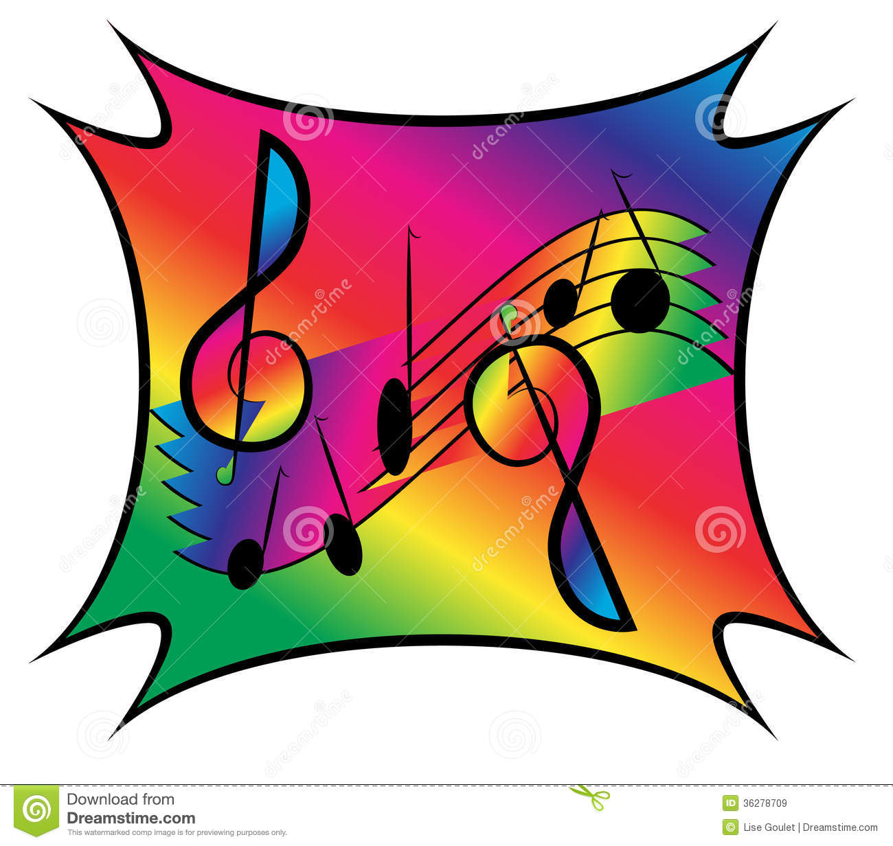 Images: Music Notes On Staff Clipart.