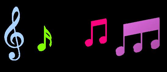 Music notes clip art color clipart image #3805.