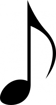 Music Note clip art free vector.