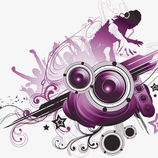 Music party PNG clipart.