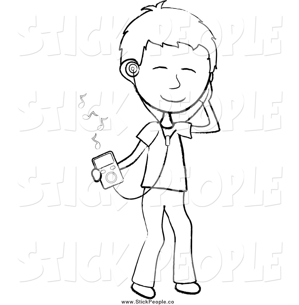 black and white music clipart.