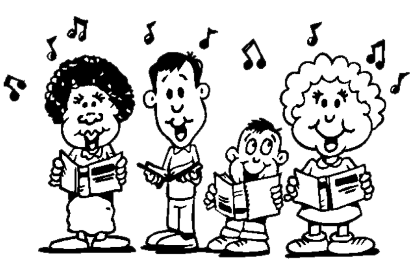 Clipart Black And White Music Class.