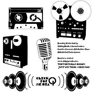 Material retro music playback device, free vector.