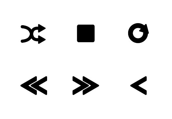 Music Player Controls icons by Romualdas Jurgaitis.