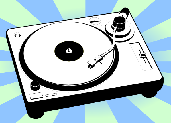 Turntable Music Player clip art Free Vector / 4Vector.
