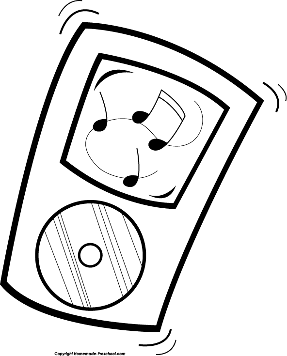 Music Player Clip Art.