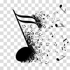 Black music note , Musical note Musical theatre, dj.