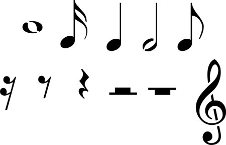 Music Rests Clipart.