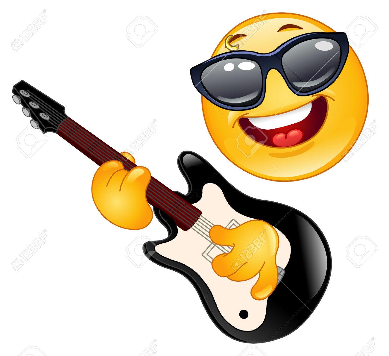 Rock star emoji clipart.