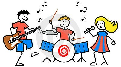 School Music Room Clipart.