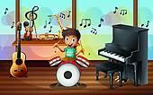 Clip Art of Kids Music Room k15439078.