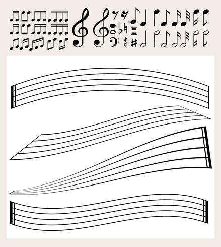Music notes and scale template.