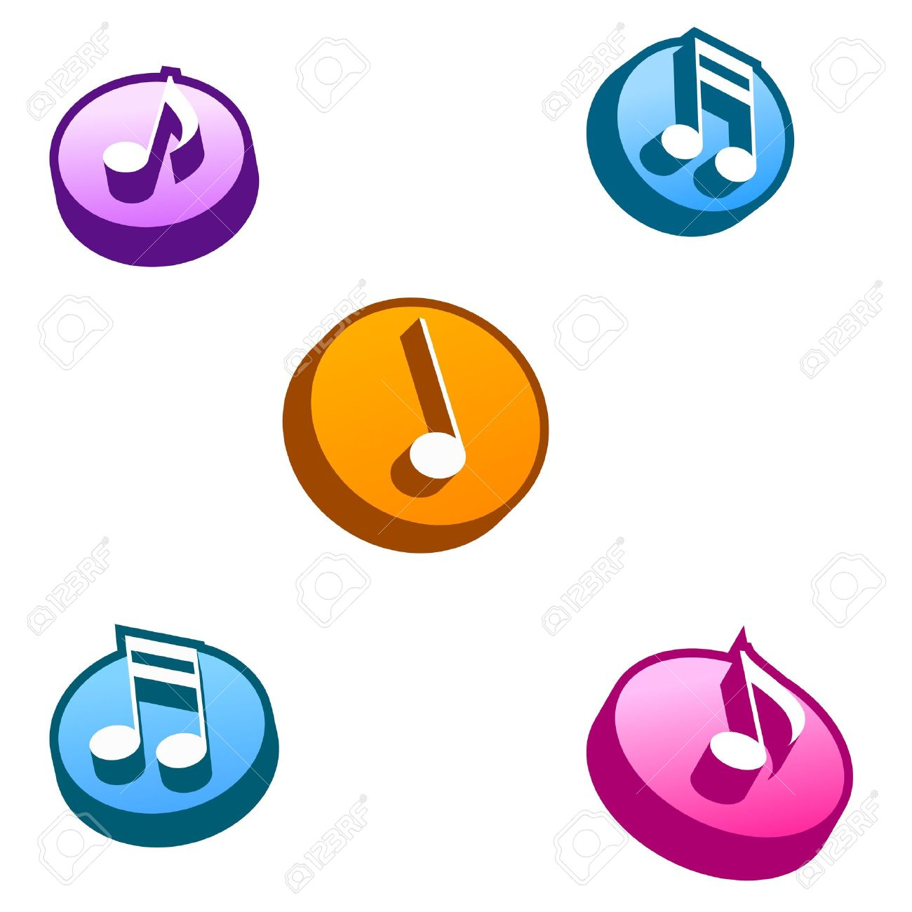 3D Music Selection Button Stock Photo, Picture And Royalty Free.