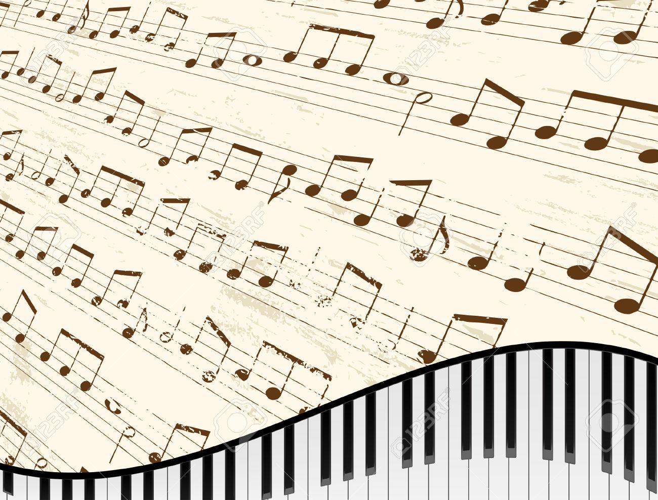 Piano Sheet Music Clipart.