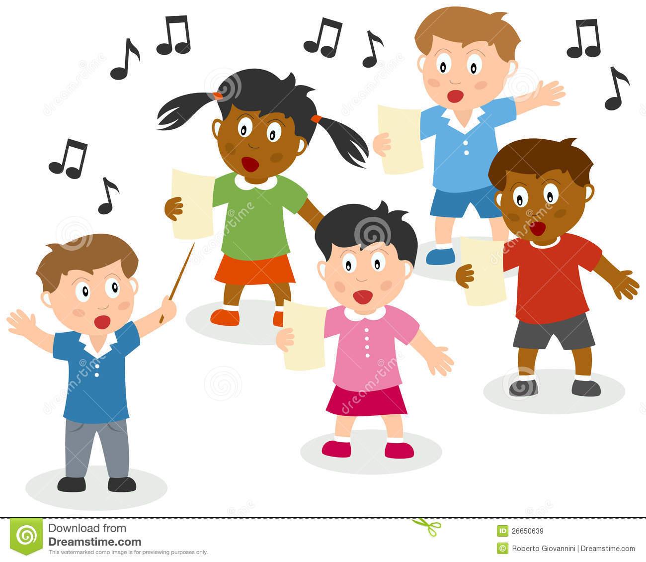 Child Singer Clipart.