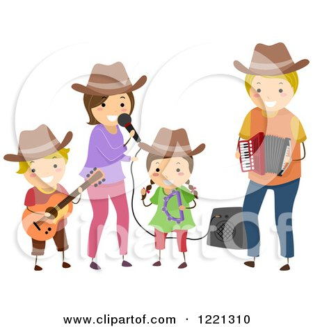 Family Singing Clipart.