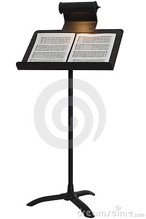 Music Stand Notes Stock Photos, Images, & Pictures.