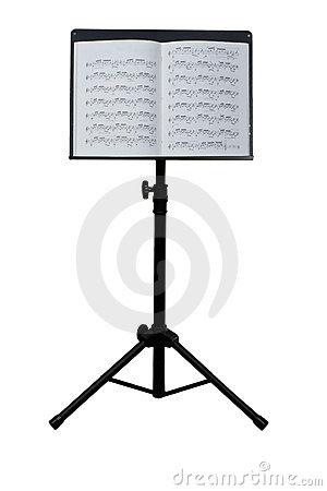 Music Stand Stock Photo.