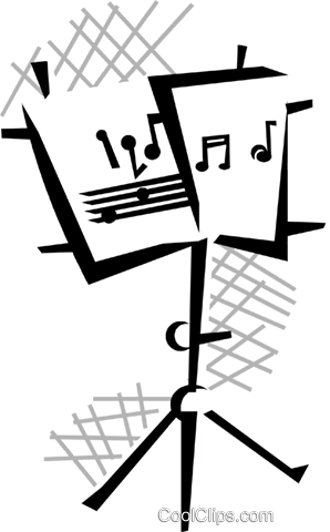 music stand Royalty Free Vector Clip Art illustration.