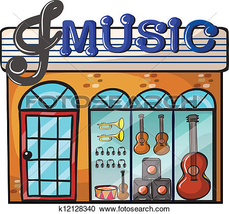Clipart of A music store k12128340.