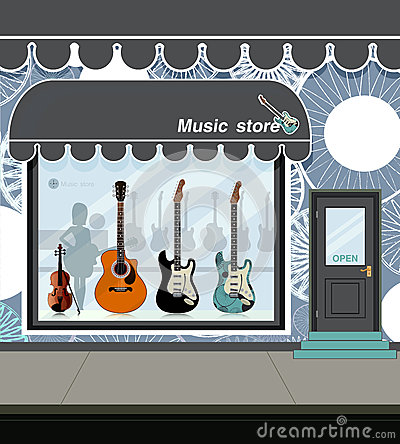 Music Store. Royalty Free Stock Image.