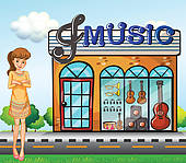 Music Store Clip Art.