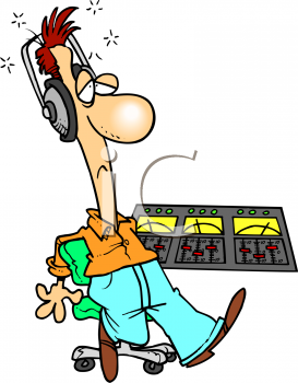 Recording studio clipart.