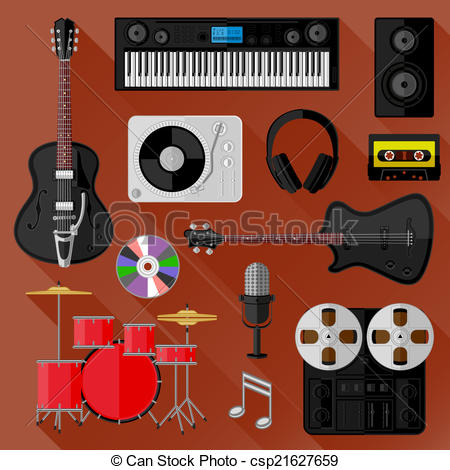 Clipart recording studio.