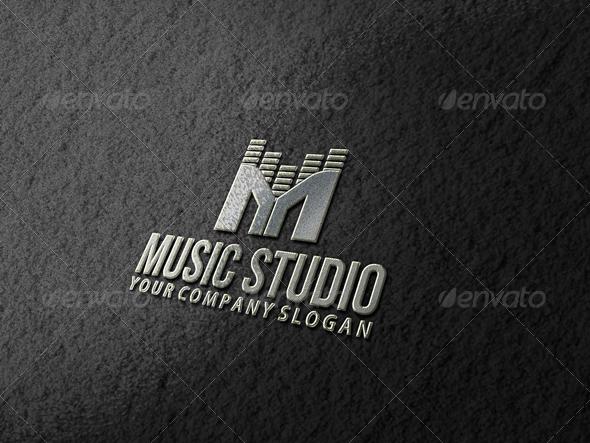 Music Studio Logo Template.