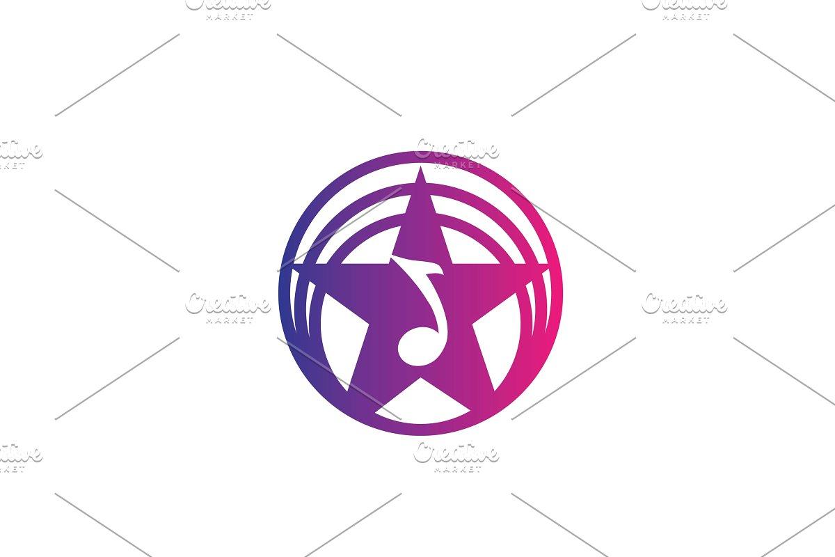 Colorful star music note studio logo.