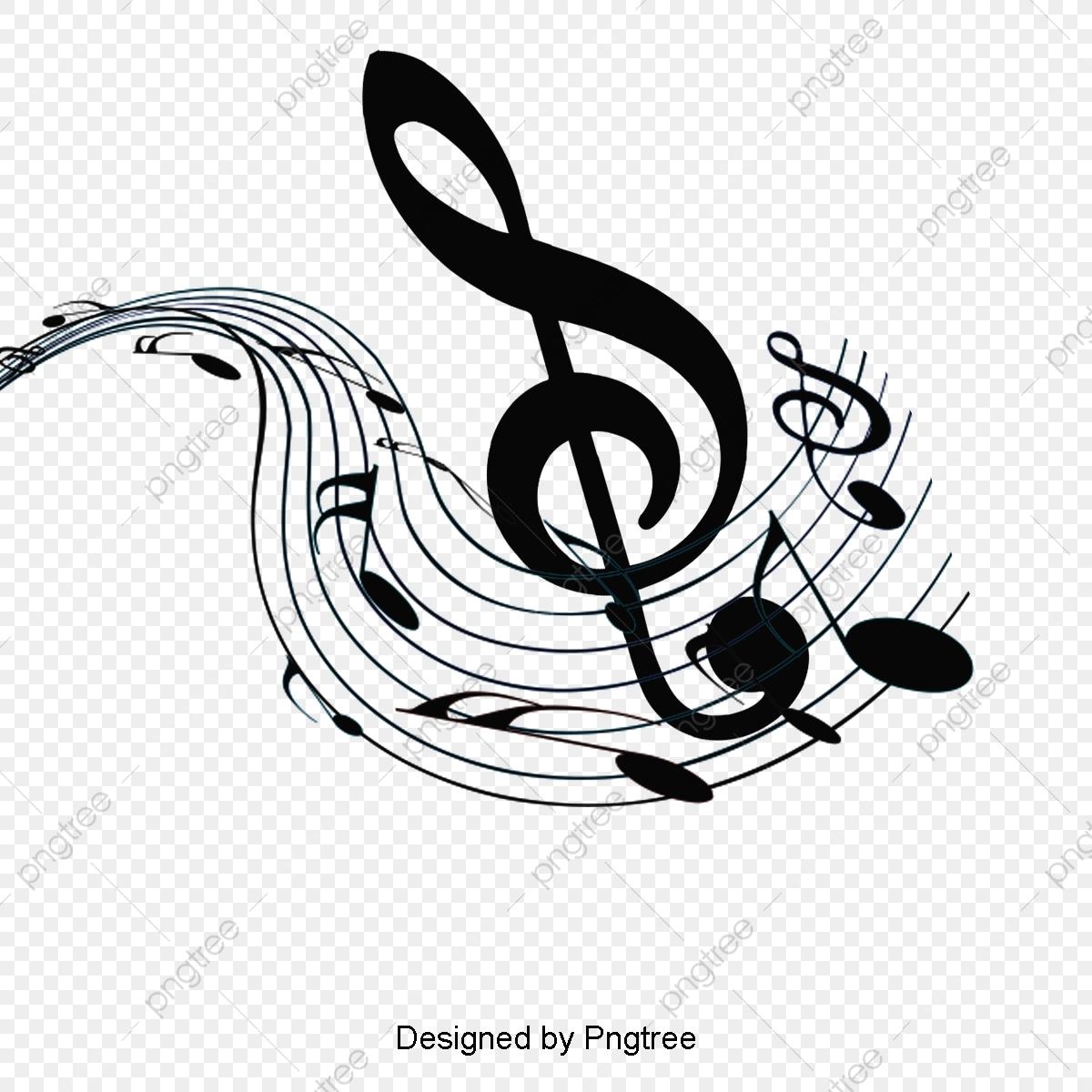 Black Music Symbol Design, Musical Note, Music, Symbol.