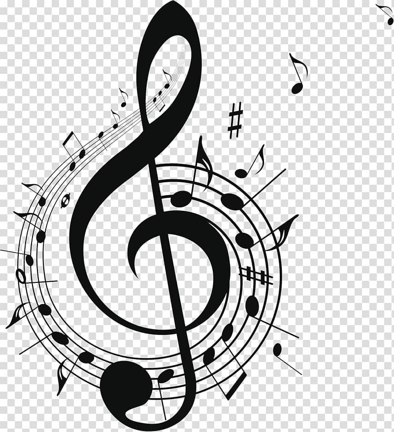 Musical note Free music , Black music symbol design, G clef.