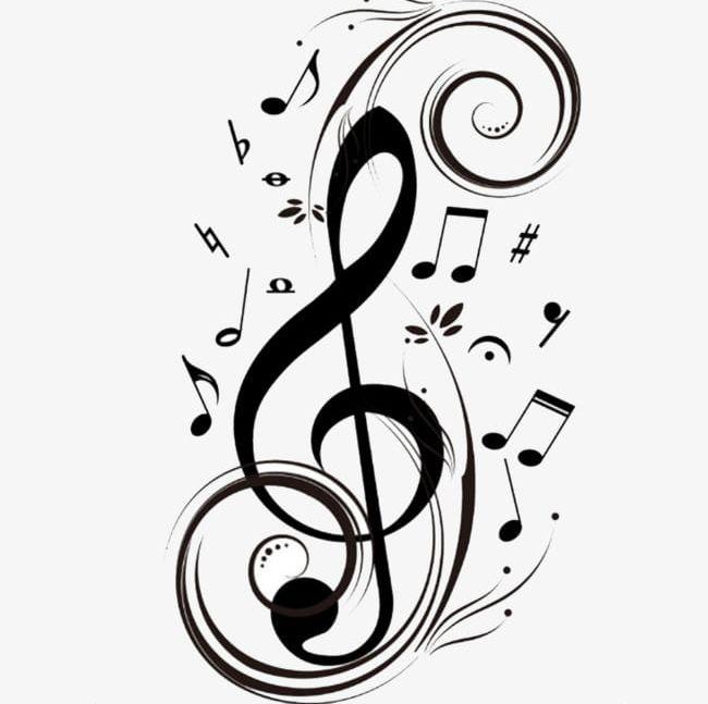 Black Musical Symbol PNG, Clipart, Black, Black Clipart.