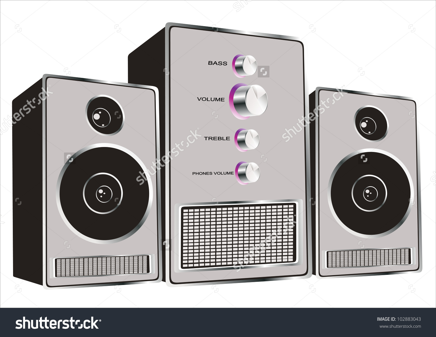 Music System Clipart