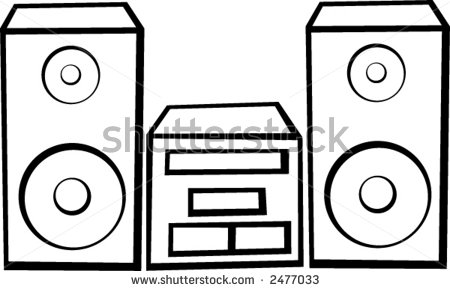 Sound system clipart.