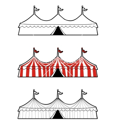 Circus tent vector by merheo.