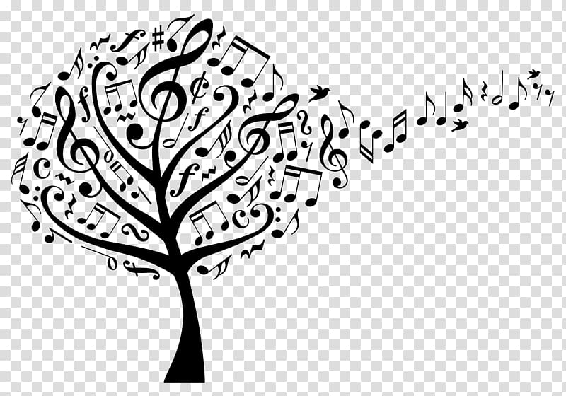 Musical notes tree , Music , musical note transparent.
