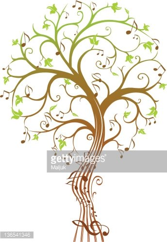 Music tree Clipart Image.