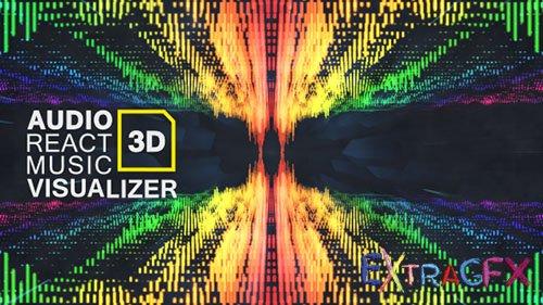 Audio React Music Visualizer 3D.