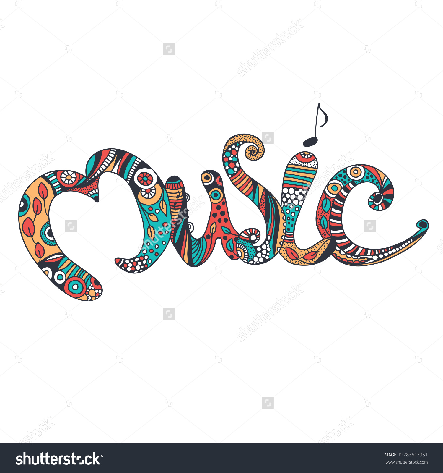 Music Word Clipart 444px Image 19