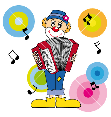 Clown music vector by sbego.