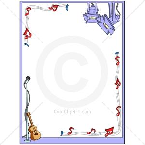 Music Instrument Borders Clipart.