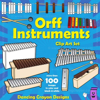 Orff Instruments: Musical Instruments Clip Art by Dancing Crayon.
