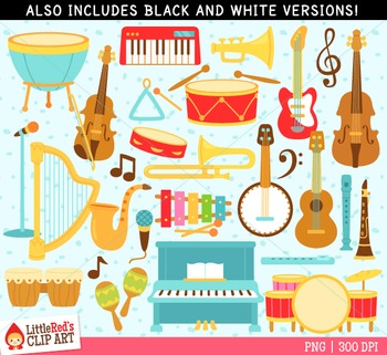 Musical Instruments Clip Art by LittleRed.