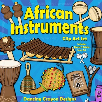 Musical Instruments: African Instruments Clip Art by Dancing.