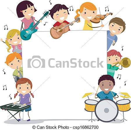 Musical Kids Vector.