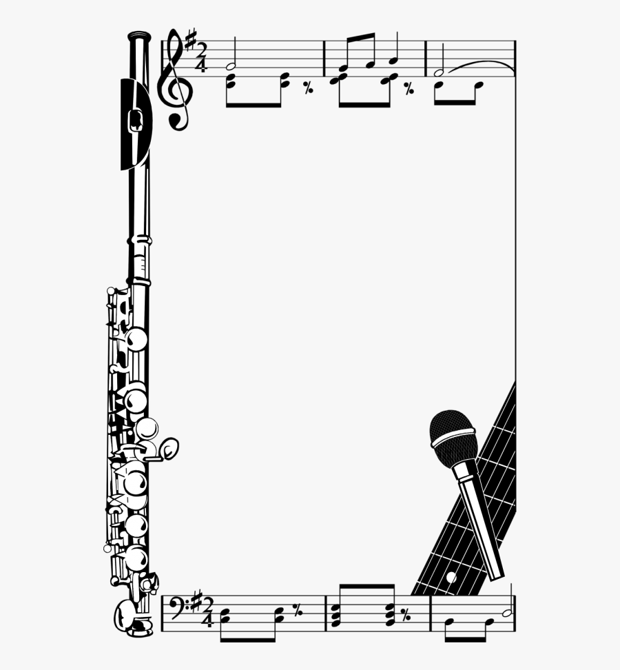 Music Note Border , Free Transparent Clipart.