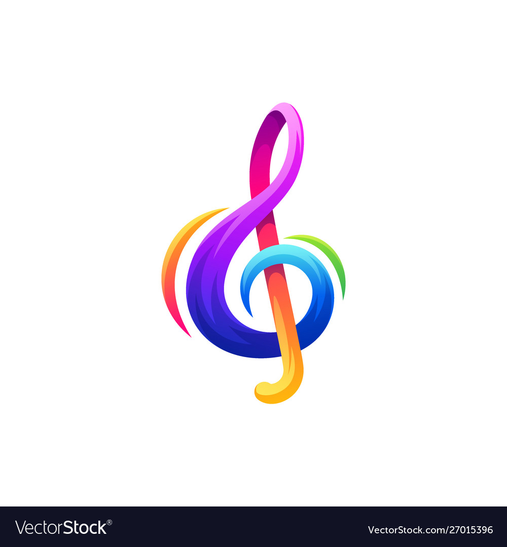 Note music logo design.