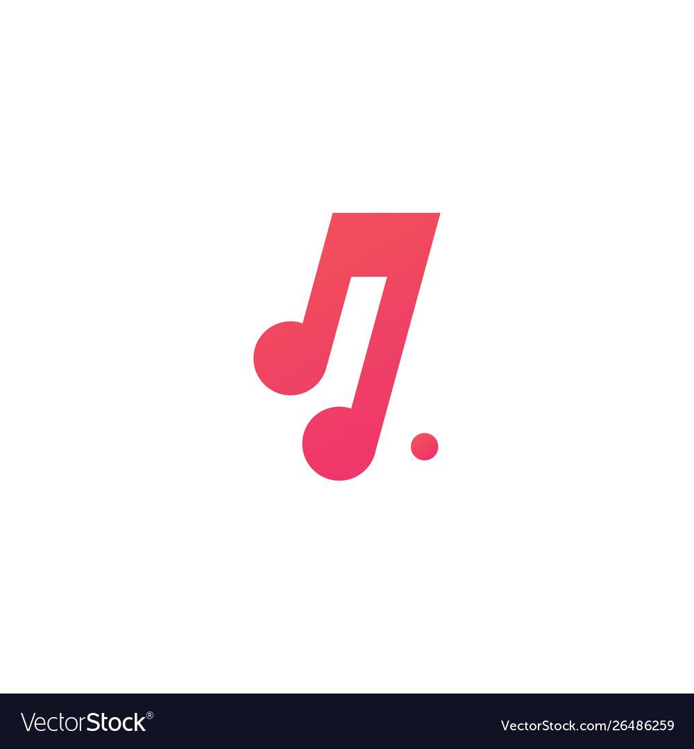 Music notes logo icon.