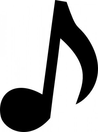 476 Musical Note free clipart.